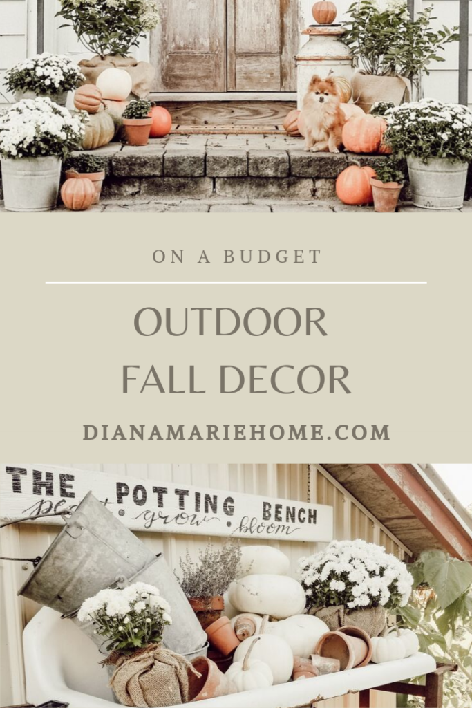 Outdoor Fall Farmhouse decor on a budget by Diana Marie Home