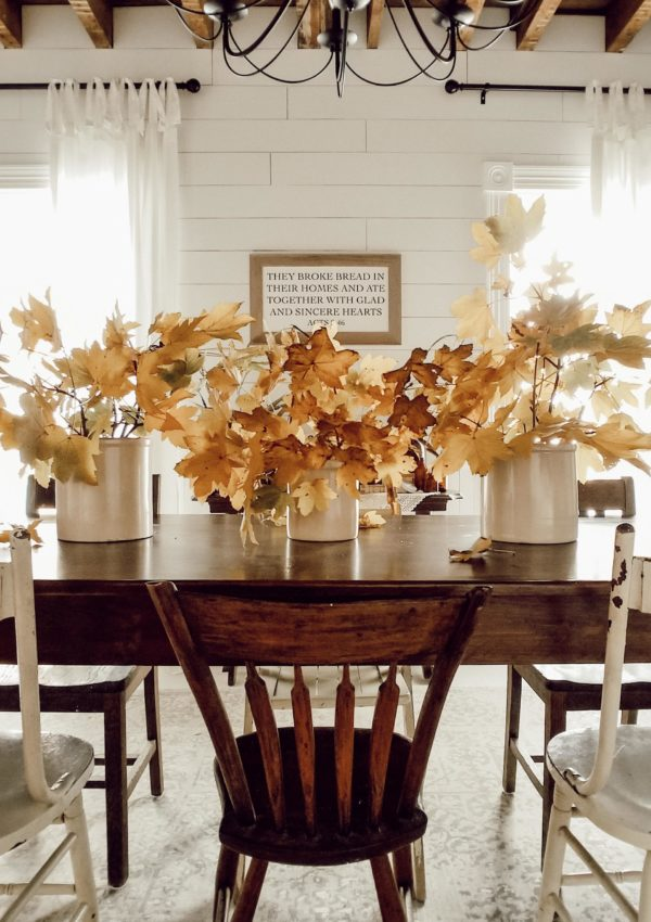 Easy DIY Thanksgiving Table Setting on a Budget
