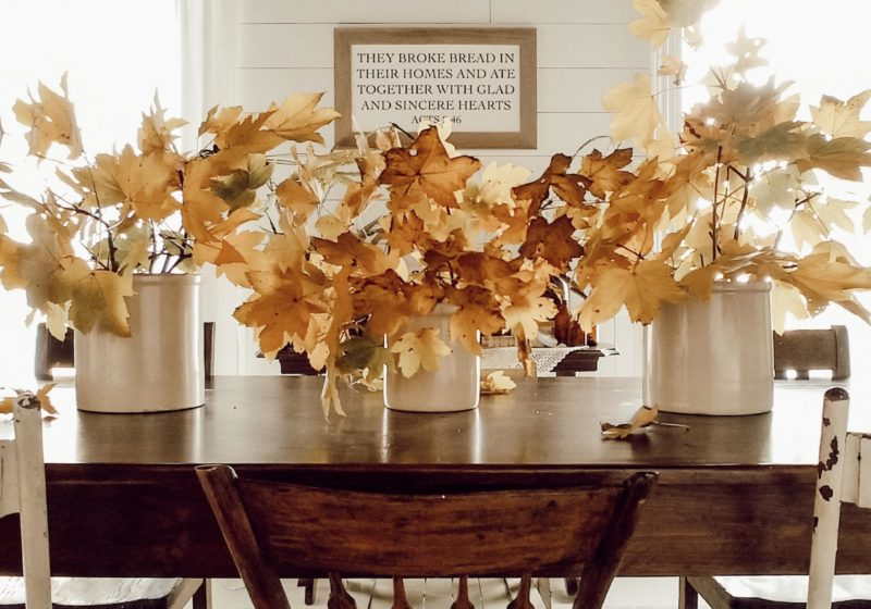 Easy DIY Fall Thanksgiving Table Setting On A Budget