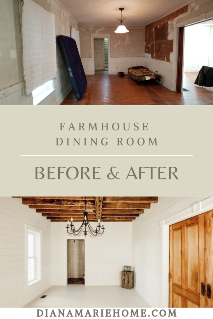 fixer upper farmhouse dining room before and after