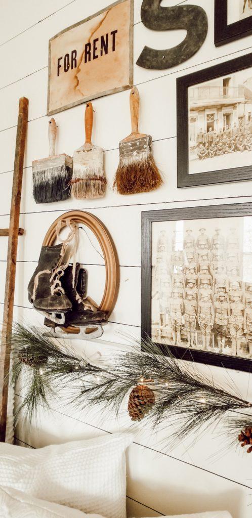 Farmhouse Antique Christmas Winter Decor Gallery wall
