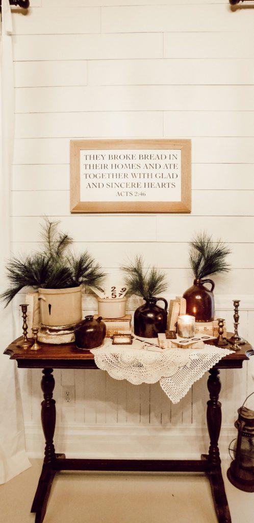 Simple Farmhouse Christmas Winter Decor