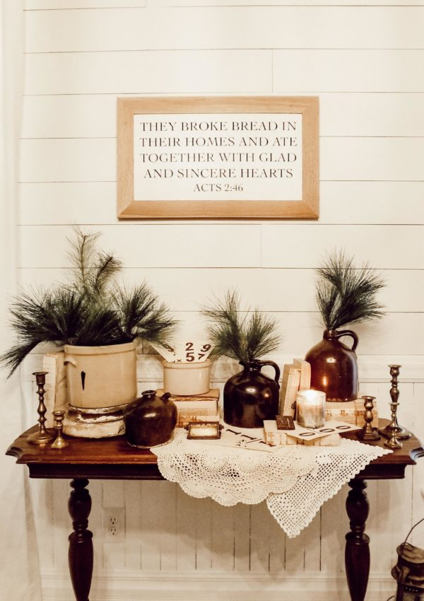How to Simply Transition from Fall to Winter Decor
