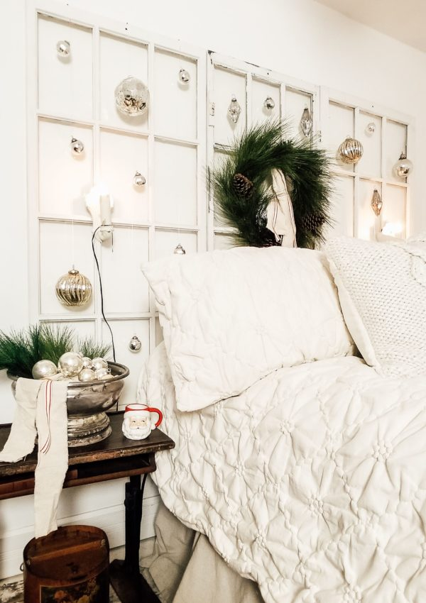 Farmhouse Christmas Bedroom DIY & Blog Hop