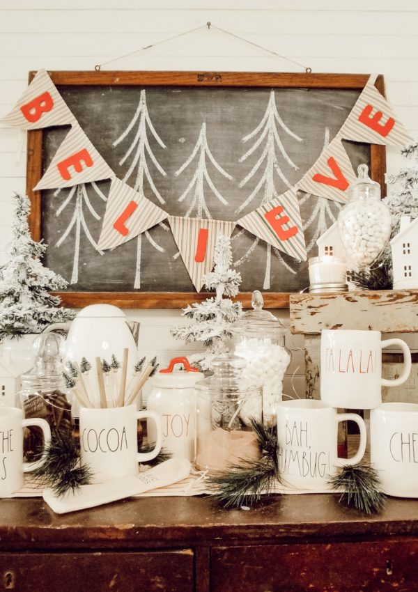 Simple Last Minute Cocoa Bar