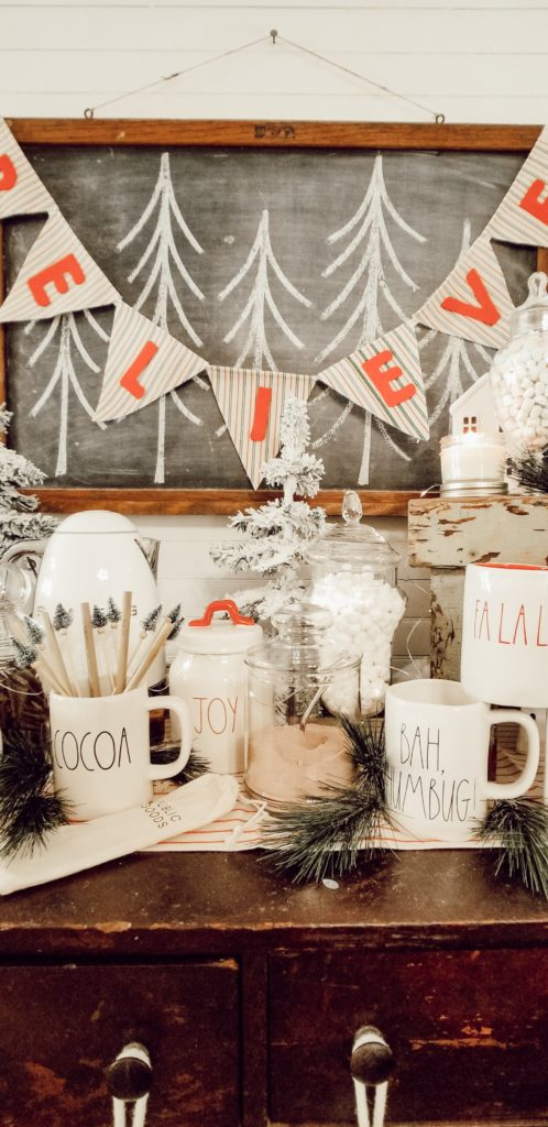 Simple last minute christmas party cocoa bar