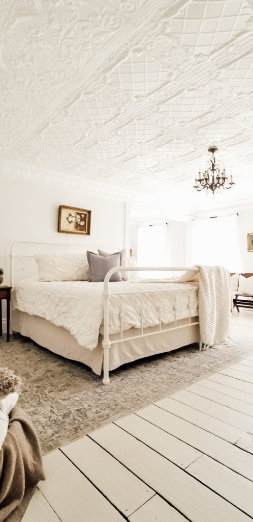 Neutral Farmhouse Master Bedroom