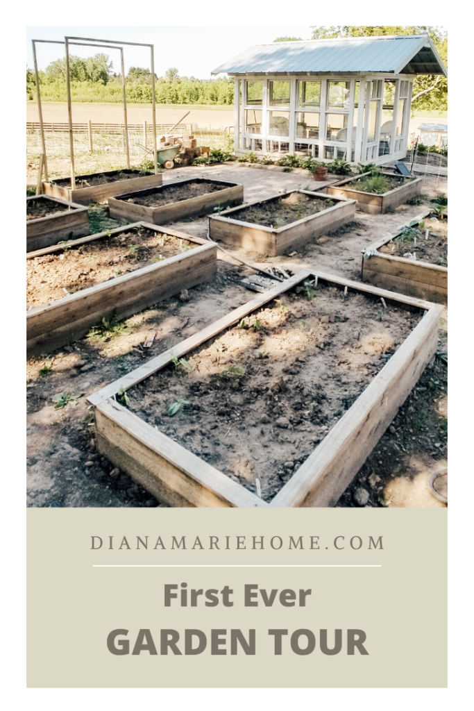 First Ever Garden Tour | Diana Marie Home
