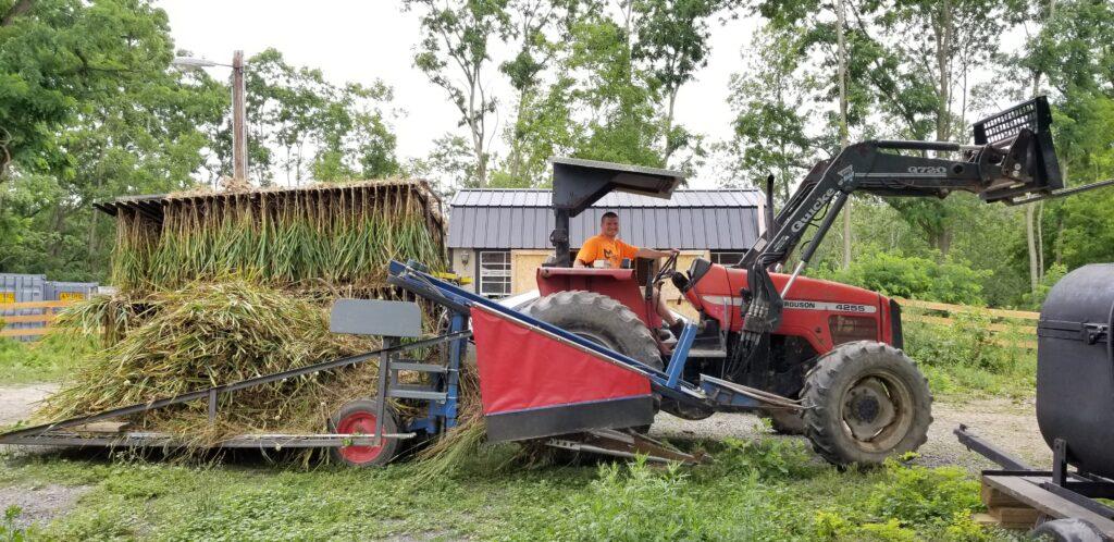 organic garlic harvester tractor