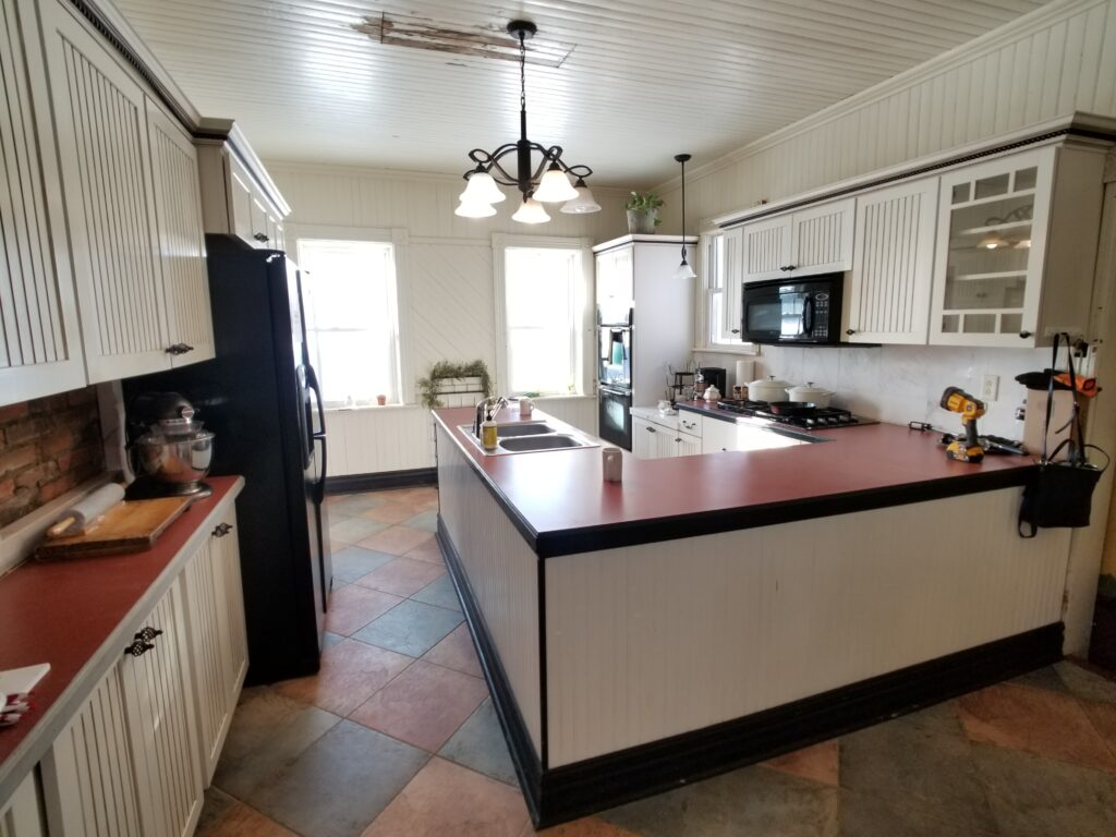 BEFORE Farmhouse Kitchen Restoration