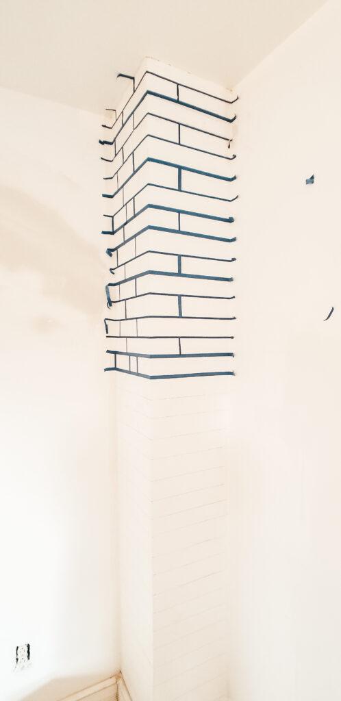 DIY Faux Brick Chimney