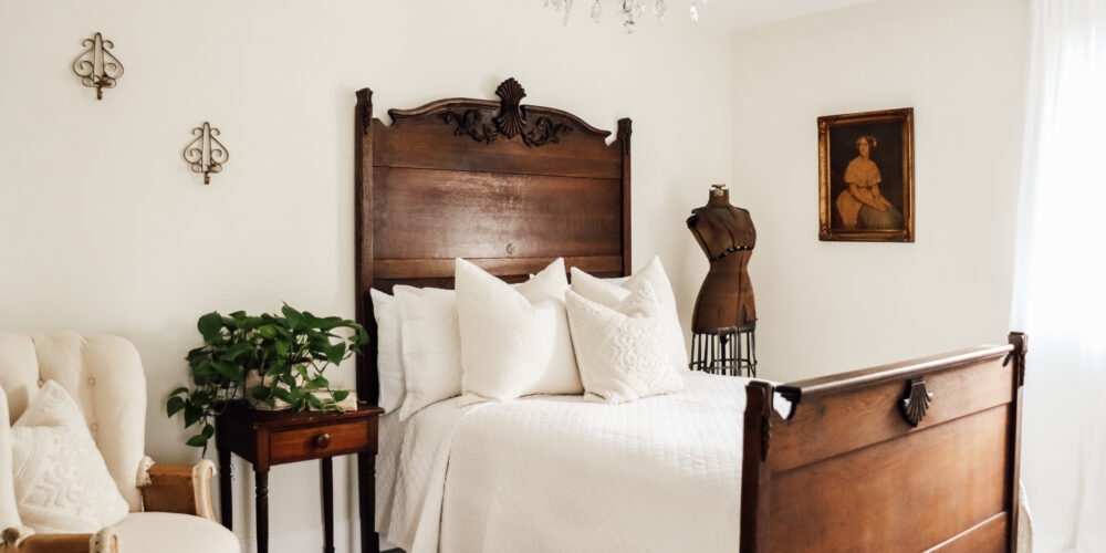 Farmhouse Cozy Antique Guest Bedroom Restoration