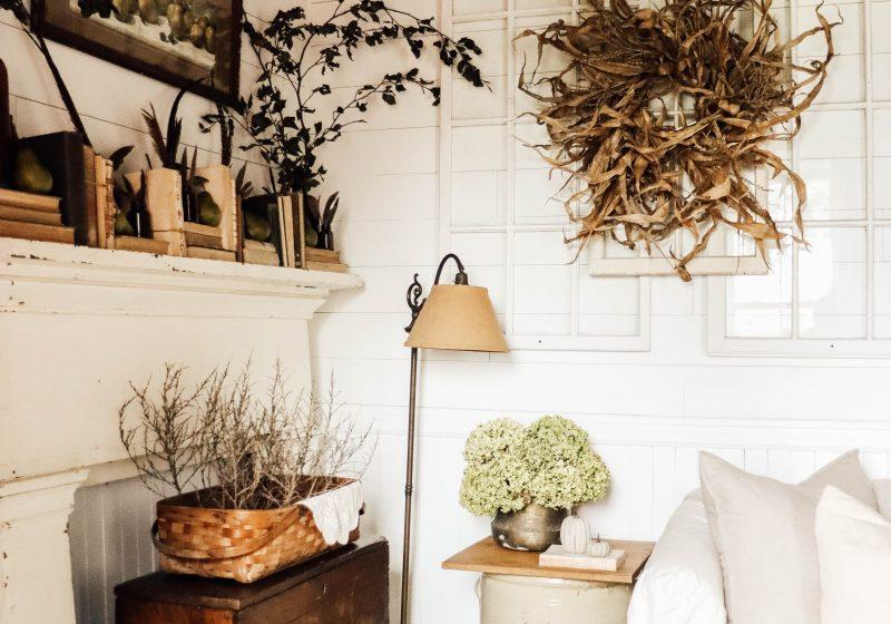DIY Fall Corn Husk Wreath