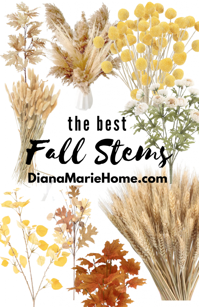 Best neutral real looking fall stems and florals for cozy home decor